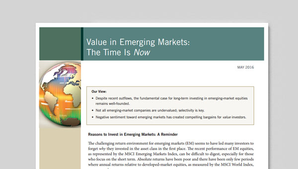Value in Emerging Markets
